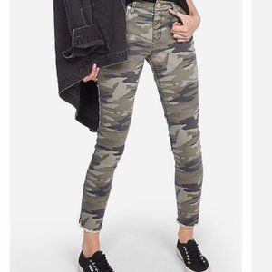 Express Camouflage Ankle Mid Rise Jeans SZ
